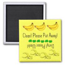 Bananas dishwasher magnet