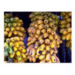 Bananas for sale at market, Puerto Rico Post Card