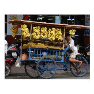 Bananas for sale postcards