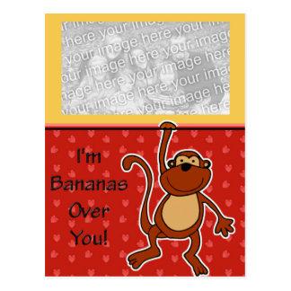 Bananas Over You Valentine Postcard