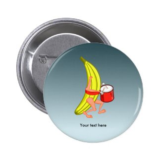 Bananas Playing The Percussion While Marching 2 Inch Round Button