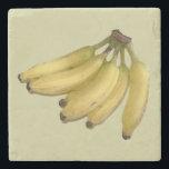"""bananas stone coaster<br><div class=""""desc"""">Yellow banana</div>"""