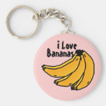 bananasreality, Bananas, I Love Basic Round Button Keychain