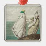 """Bañando el lugar, de la """"galería de la moda"""", 1797 adorno navideño cuadrado de metal"""
