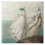 """Bañando el lugar, de la """"galería de la moda"""", 1797 azulejo cuadrado grande"""