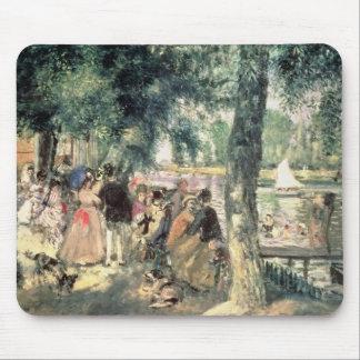 Bañándose en el Sena o, La el Grenouillere, c.1869 Alfombrillas De Ratón