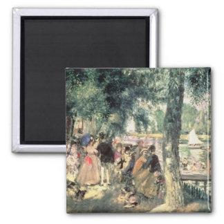 Bañándose en el Sena o, La el Grenouillere, c.1869 Imán Cuadrado