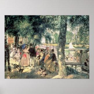 Bañándose en el Sena o, La el Grenouillere, c.1869 Póster
