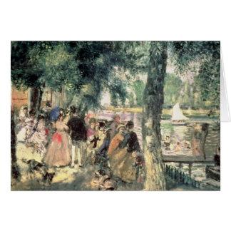 Bañándose en el Sena o, La el Grenouillere, c.1869 Tarjeta De Felicitación