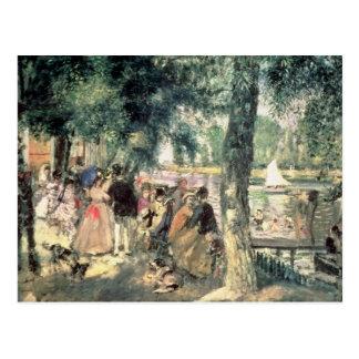Bañándose en el Sena o, La el Grenouillere, c.1869 Postal