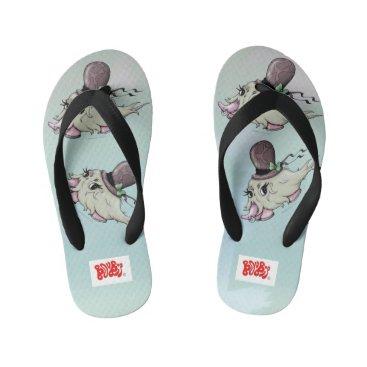 Beach Themed BANARAMA ALIEN MONSTER Flip Flops Kids  Toddler