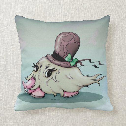 Cute Monster Pillow : BANARAMA CUTE MONSTER Throw Pillow 16X16 Zazzle