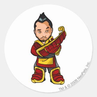 Bancha Ninja Shenkuu Staff Player Classic Round Sticker
