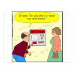 Banco 333 del dibujo animado de Jerusalén Tarjetas Postales