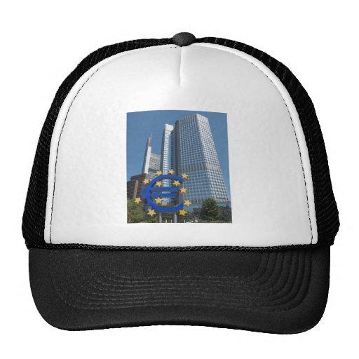 Banco Central Europeo en Francfort Gorros