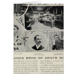Banco de ahorros de Santa Rosa, California Tarjetón