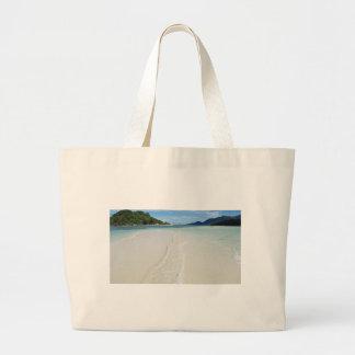 banco de arena tropical bolsa tela grande