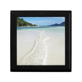 banco de arena tropical joyero cuadrado pequeño