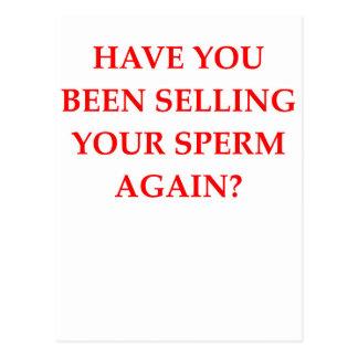 banco de esperma tarjetas postales