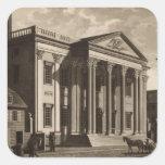 Banco de Gerards en Philadelphia Pegatina Cuadrada