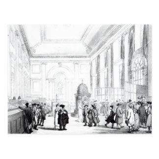 Banco de Inglaterra, gran pasillo, de Ackermann Postal