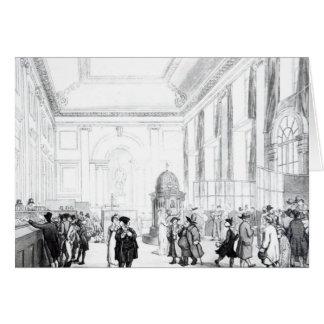 Banco de Inglaterra, gran pasillo, de Ackermann Tarjeta De Felicitación