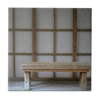 Banco de la casa de té del estilo japonés azulejos ceramicos