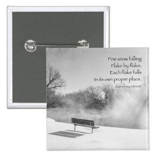 Banco de la nieve en silencio pins