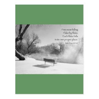 Banco de la nieve en silencio tarjetas postales