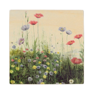 Banco de las flores del verano posavasos de arce