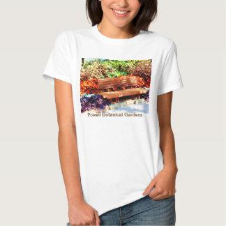 Banco de parque en camiseta del otoño polera