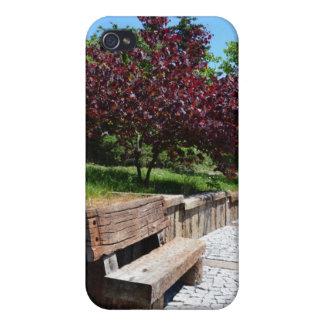 Banco de parque iPhone 4 funda