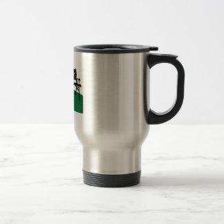 Banco de parque taza de café