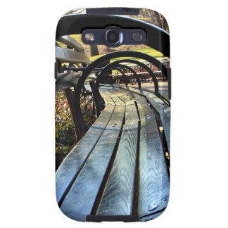 Banco de parque único en Central Park NYC Samsung Galaxy S3 Cárcasas