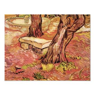 Banco de piedra de Van Gogh en el jardín, hospital