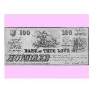 Banco del amor verdadero postal