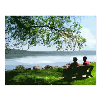 Banco del lago Cayuga Tarjetas Postales
