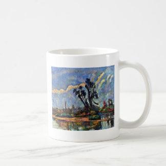 Banco del Oise de Paul Cézanne (la mejor calidad) Taza De Café