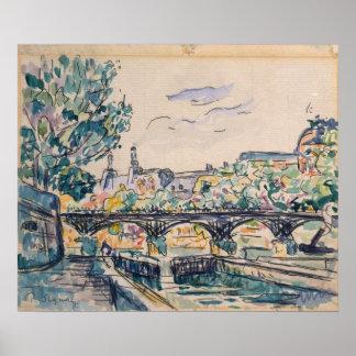 Banco del Sena cerca del Pont des Arts Póster