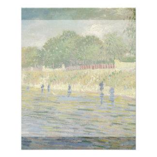 Banco del Sena de Vincent van Gogh Flyer A Todo Color