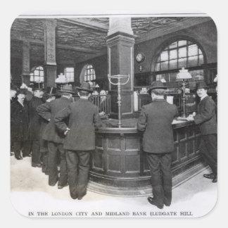 Banco florentino pegatina cuadrada
