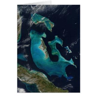 Banco magnífico de Bahama, fotografía del satélite Tarjeta De Felicitación