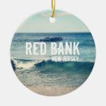 Banco rojo 2013 - recuperación en la orilla del je adorno de navidad