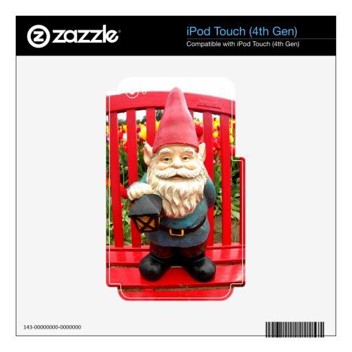 Banco rojo iPod touch 4G calcomanías