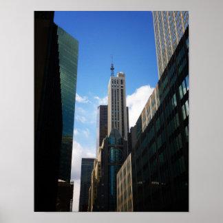 Banco Santander y los edificios de Dumont pequeño Poster