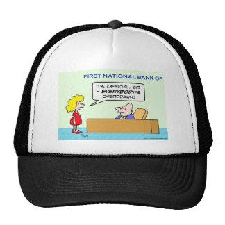 banco todos funcionario girado en descubierto gorras