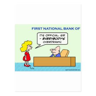 banco todos funcionario girado en descubierto tarjetas postales