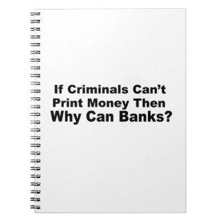 Bancos criminales libros de apuntes