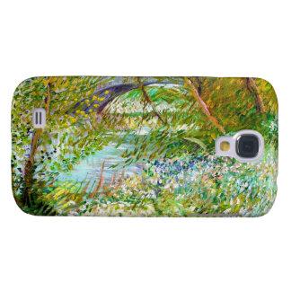 Bancos de la pintura del Sena Pont Clichy Van Gogh Funda Para Galaxy S4