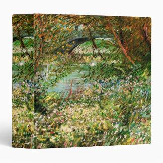 "Bancos de Van Gogh del Sena Pont de Clichy en Carpeta 1 1/2"""